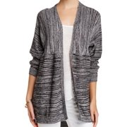 Wild Pearl NEW Juniors Black White Small S Marled Open Front Cardigan $32