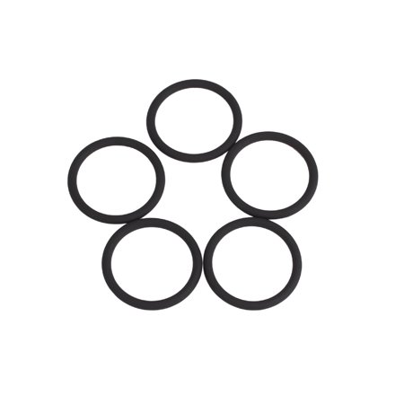 5pcs AS568A Black FKM75 Rubber O-Ring Washer Sealing Gasket for Car 21.89x2.62mm - image 4 of 5
