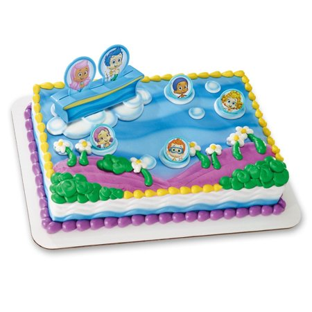 Bubble Guppies Gil Molly And Gang Cake Topper