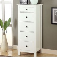 Well-designed Wooden Chest With 5 Drawers, White