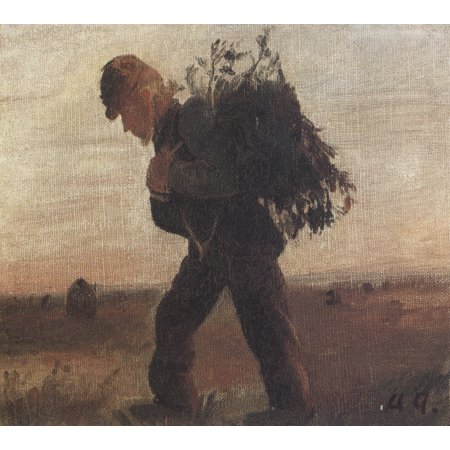 Kit Heath Art - Framed Art for Your Wall Ancher, Anna - going by Bollerhus with fagot in the heath 10 x 13 Frame