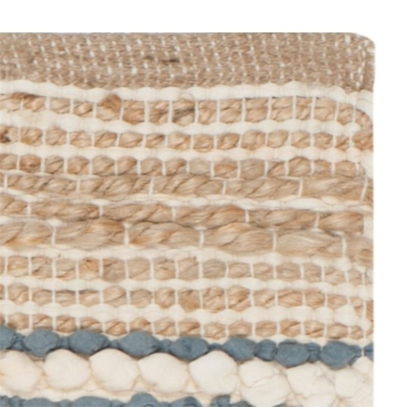 Safavieh Cape Cod 8' X 10' Hand Woven Rug in Natural and Blue - image 4 de 8