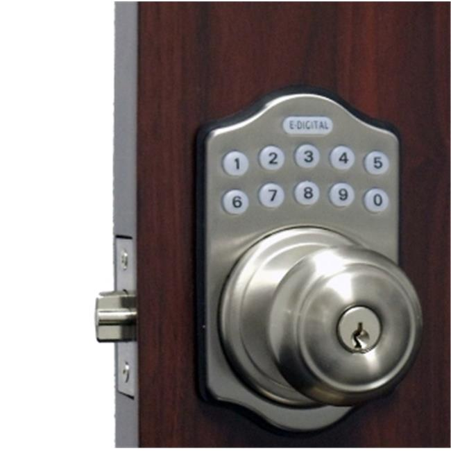 Lockey E-930-SN-R E Digital Electronic Knob Lock Remote Capable - Satin Nickel