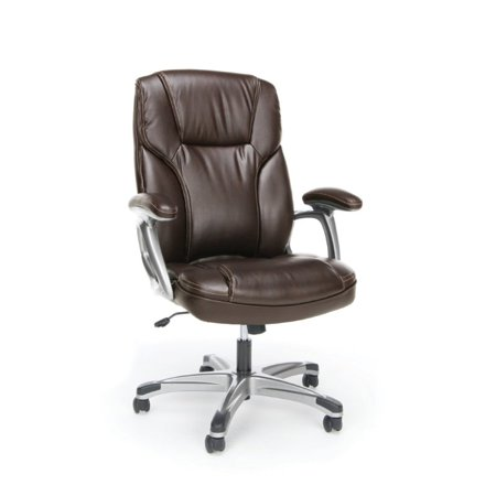 Scranton & Co Ergonomic High Back Leather Office Chair in Brown - image 5 of 5