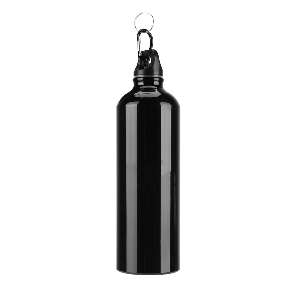 500ml Water Bottle Aluminum Alloy Bicycle Kettle for Cycling Camping Black