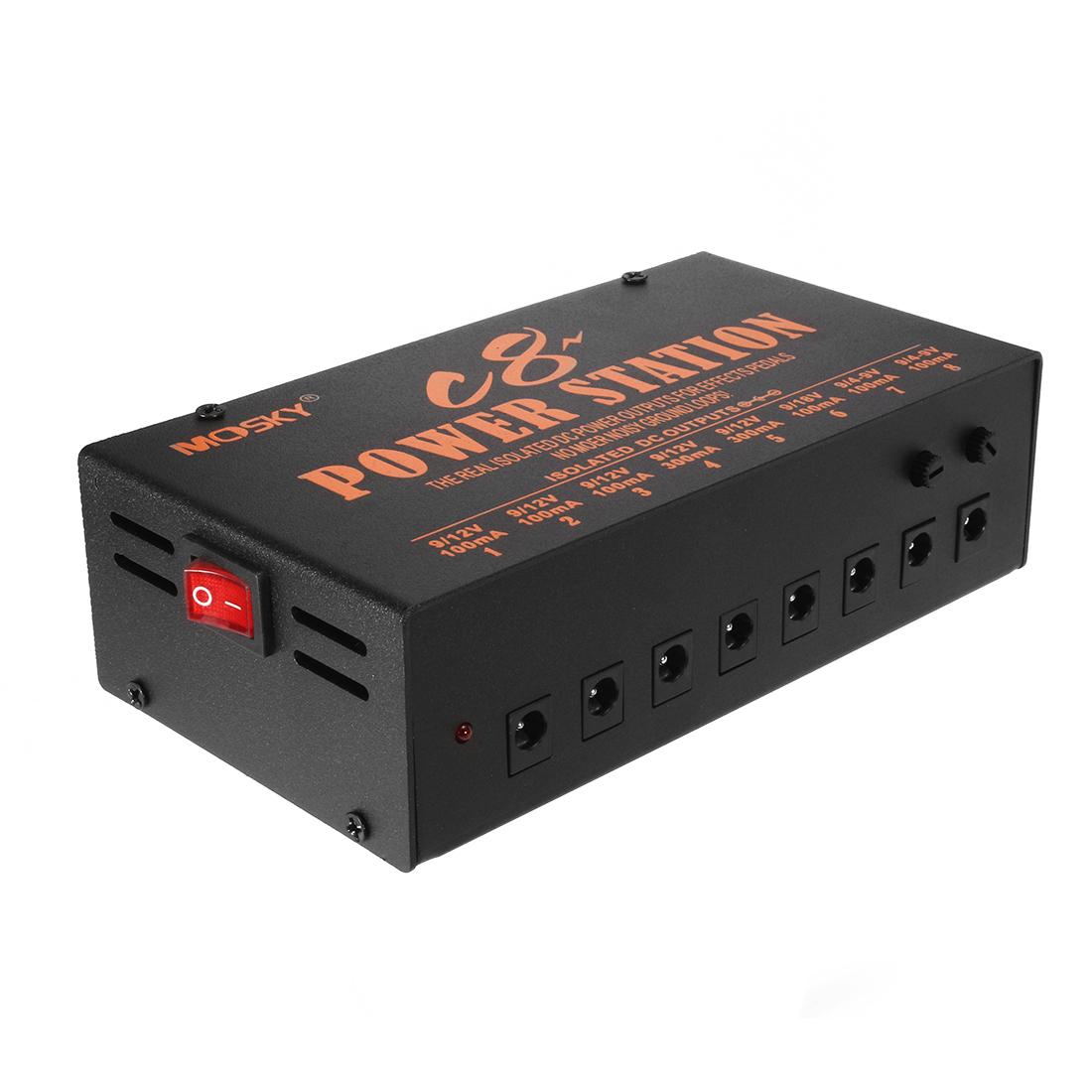 Us Plug Pedal Power Supply 8 Isolated Output 9v 12v 18v Effect Pedals 9vdc No Transformer