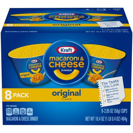 Kraft Original Flavor Macaroni & Cheese Dinner 8-2.05 oz. Cups