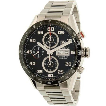 Tag Heuer Carrera 43mm Chrono Day Date Automatic Mens Watch