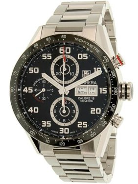Tag Heuer Carrera 43mm Chrono Day Date Automatic Mens Watch CV2A1R.BA0799