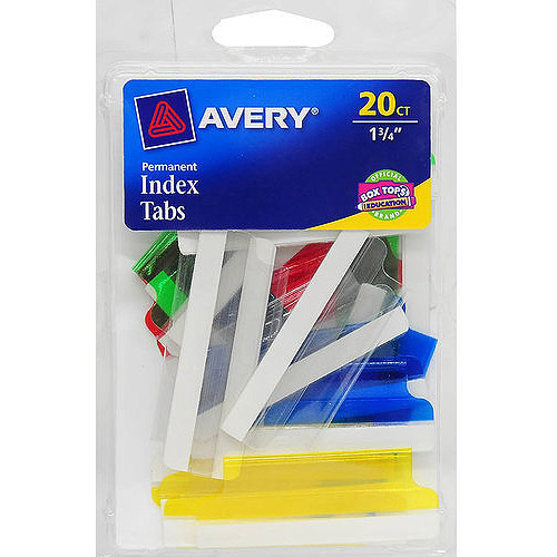 """Avery Assorted Index Tabs, 1.75"""""""