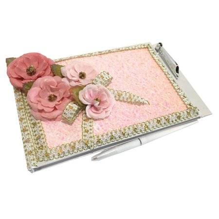 Allure Bridals Quinceanera (Flower Guest Book For A Sweet 16, Quinceanera, Wedding Bridal Signature Memory Pink Book All)