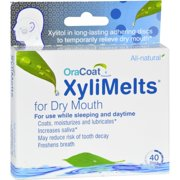 OraCoat XlyiMelts Dry Mouth Adhering Discs, 40 Ct