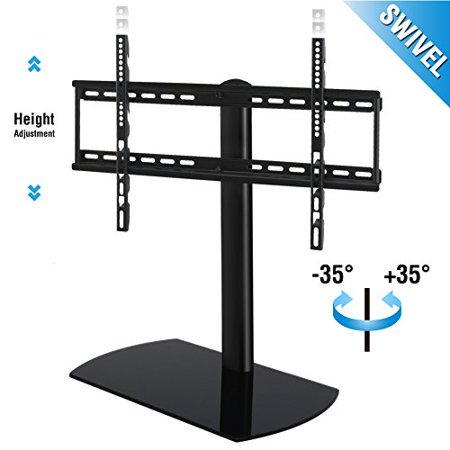 Swivel Tab letop TV Stand with Mount for 32 to 65 inch Samsung TCL Vizio LED LCD Flat screen TV TT107002GB (Tv Mounts For 32 Inch Vizio)