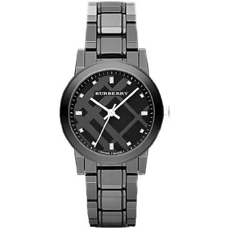 - Burberry Diamond Black Dial Smoke Ceramic Quartz Ladies Quartz Watch BU9183