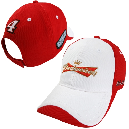 Chase Authentics Kevin Harvick 2014 Official Pit Budweiser Adjustable Hat - White/Red - OSFA