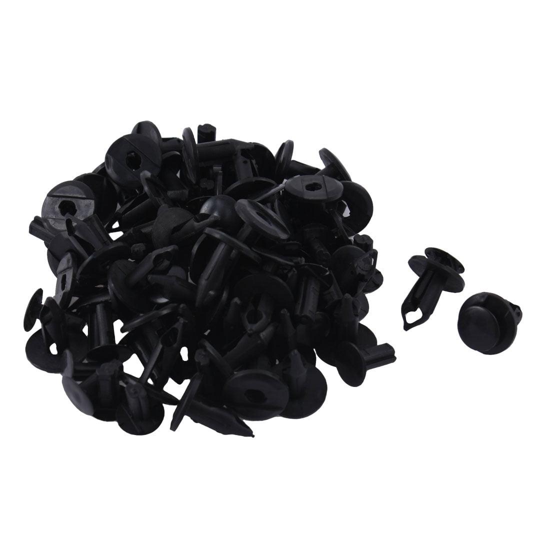 50 Pcs Black Plastic Rivet Fastener Auto Car Parts Panel Trim Clips 8mm Hole