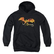 The Hobbit Smaug On Fire Big Boys Pullover Hoodie