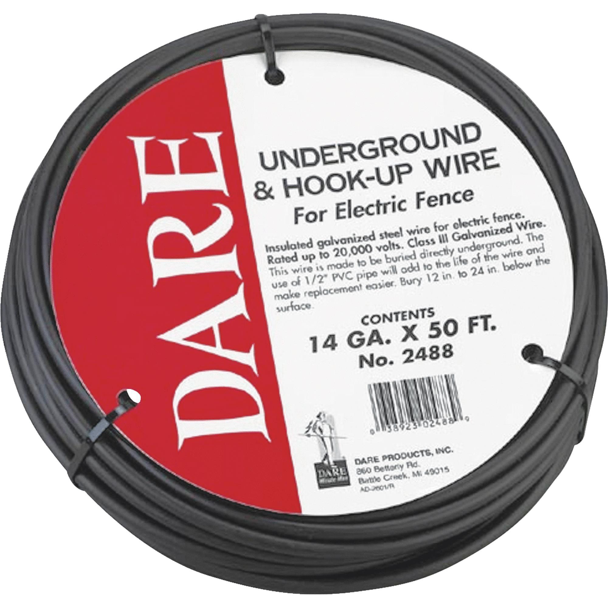 UNDERGROUND & HOOK-UP WIRE BLACK 14GAUGEX50FOOT