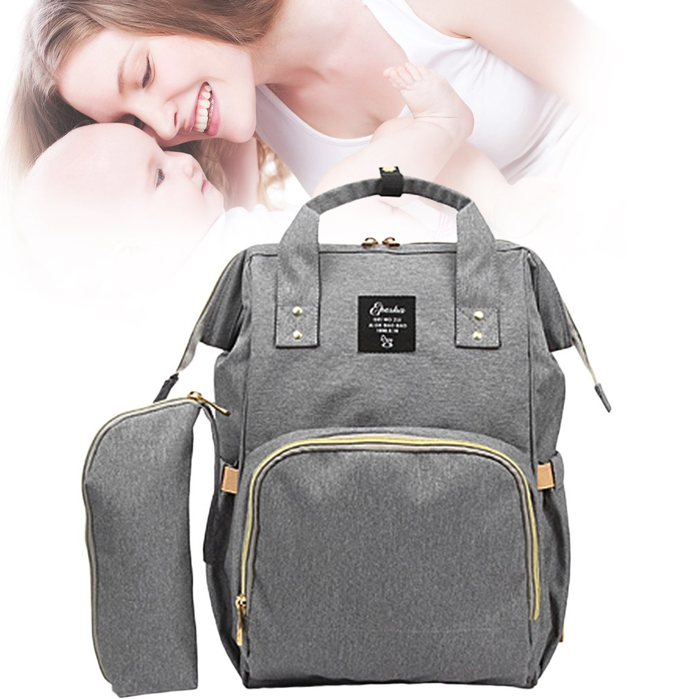 2 Pcs/Set Large Capacity Baby Care Multifunctional Mommy Backpack Fashionable Design Mommy Diaper Bag Nappy Bag by Leshp