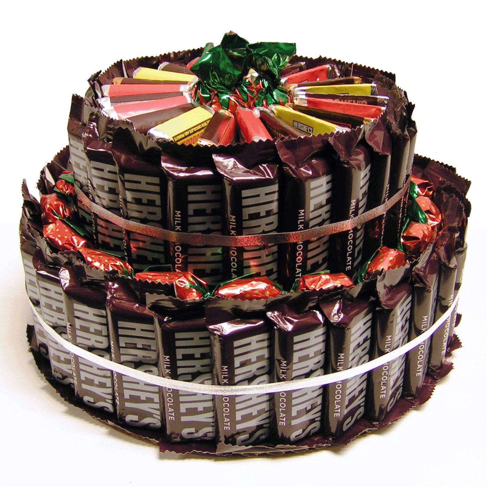 Chocolate Bar Candy Cake