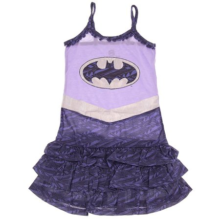 DC Comics Girls Batgirl Ruffled Strappy Nightgown