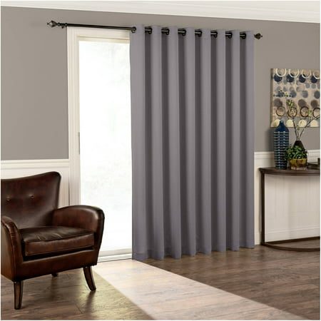 Eclipse Thermal Blackout Tricia Patio Door Window Curtain Panel (Sliding Patio Door Parts)