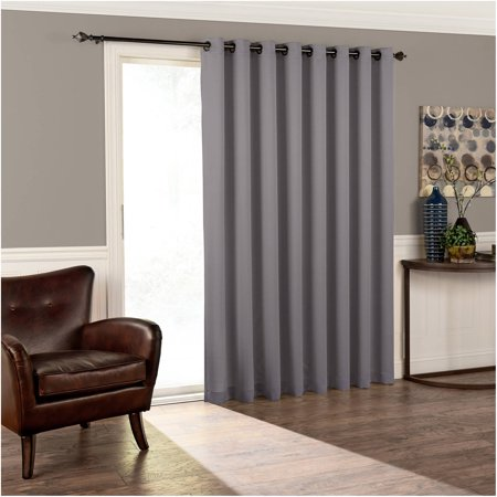 Sliding Door Applique - Eclipse Thermal Blackout Tricia Patio Door Window Curtain Panel