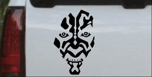 Star Wars Darth Maul Car or Truck Window Laptop Decal Sticker