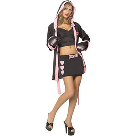 Women's Deluxe Sassy Knockout Boxer Babe Adult Costume