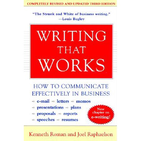 Writing That Works, 3rd Edition : How to Communicate Effectively in
