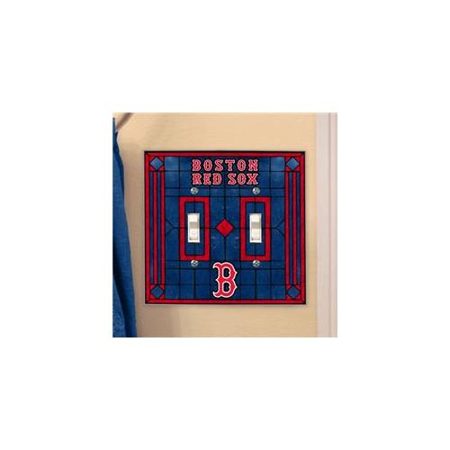 TMC MLB-BRS-649 Dbl Lightswitch Cover-Red Sox