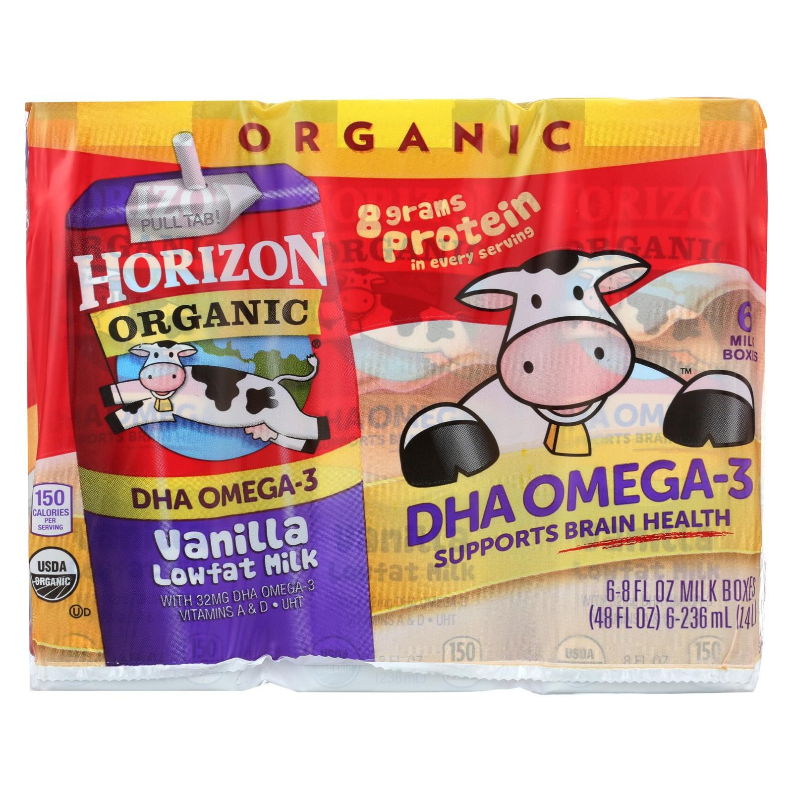 Horizon Organic Dairy Organic Low Fat 1 % Milk - Vanilla - Pack of 3 - 6/8 Fl Oz