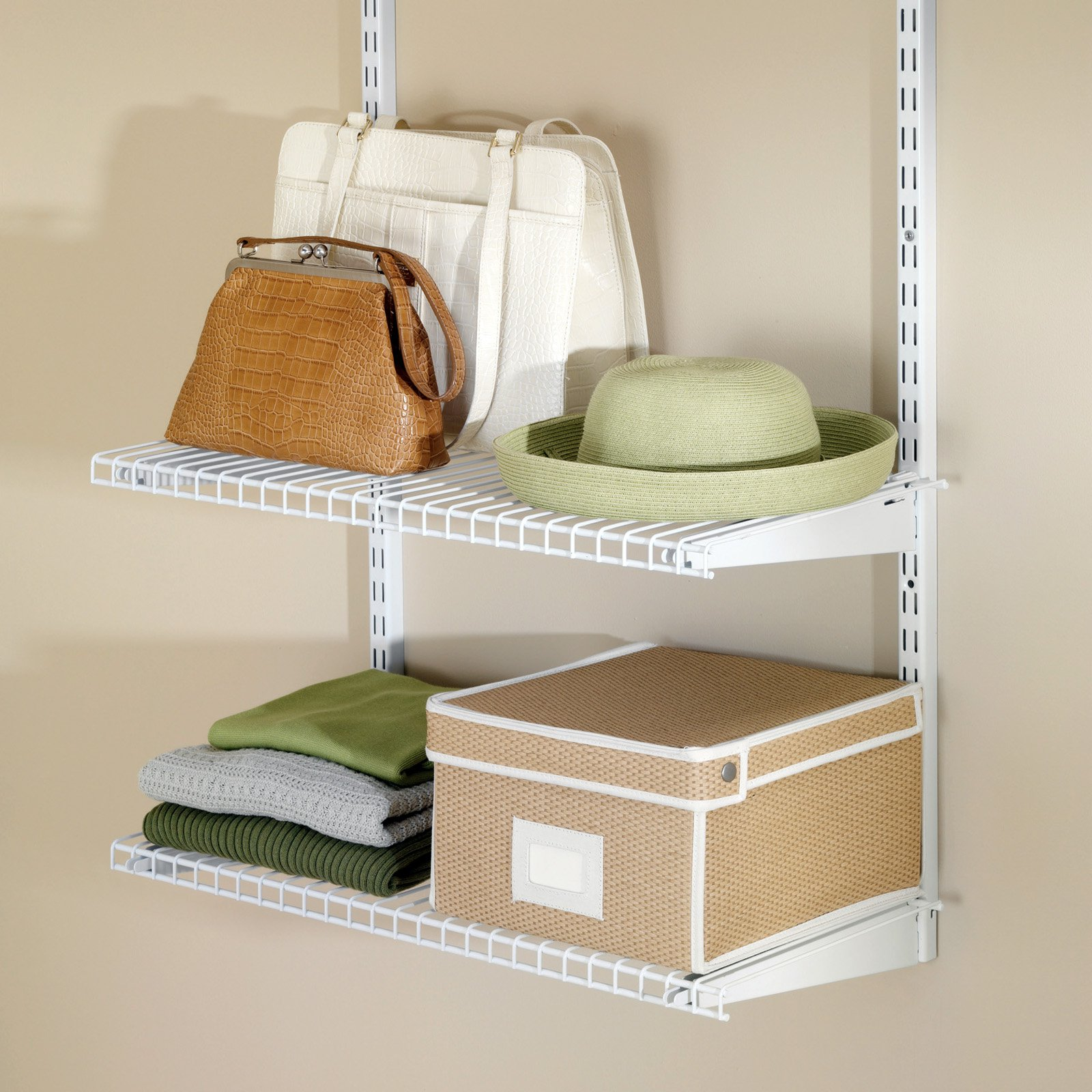 Rubbermaid Configurations Add-On Closet Shelf Kit - White - Walmart.com