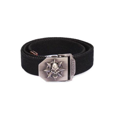 Fashion Skull With Thick Canvas Belt Men Belt, Seven colors (Skull Belt)