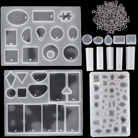 Meigar 113 Pieces Silicone Casting Molds and Tools Set for DIY Jewelry Craft