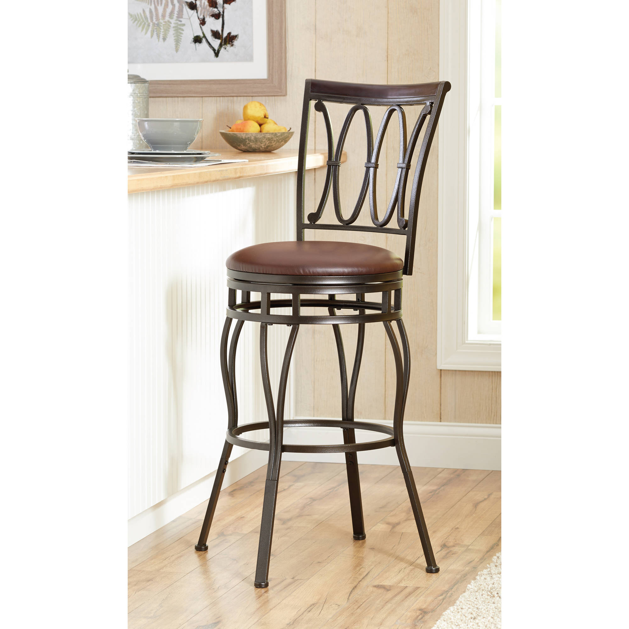 Better Homes and Gardens Adjustable Barstool  Oil Rubbed Bronze    Walmart com. Better Homes and Gardens Adjustable Barstool  Oil Rubbed Bronze