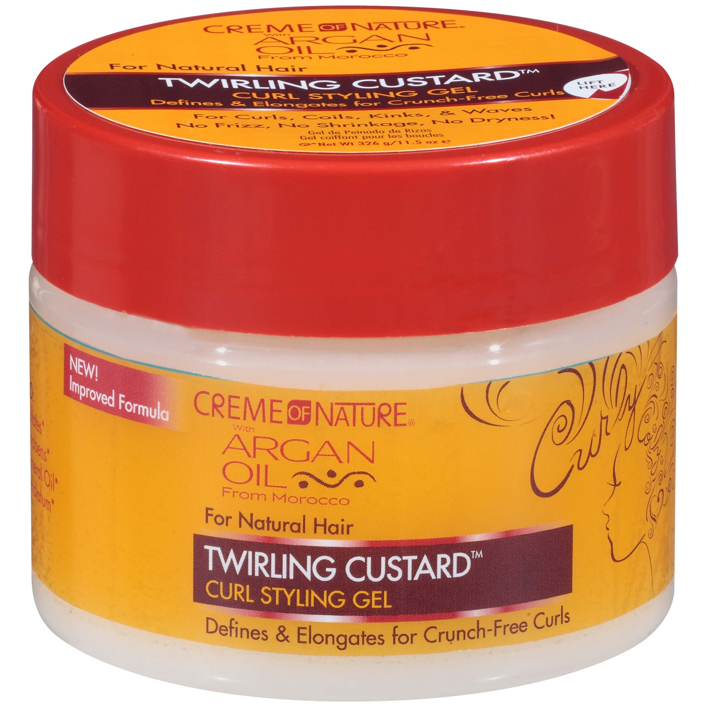 Creme of Nature Twirling Custard Curl Styling Gel, 11.5 oz