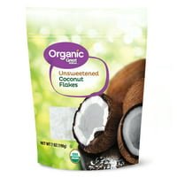 (2 pack) Great Value Organic Unsweetened Coconut Flakes, 7 oz