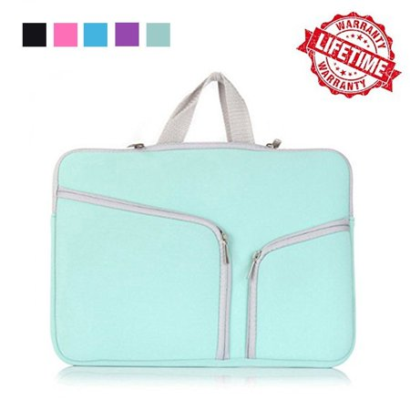 IClover 13 Inch Waterproof Thickest Protective Slim Laptop Case for Macbook Apple Samsung Chromebook HP Acer Lenovo Portable Laptop Sleeve Liner Package Notebook Case Bag Soft Green Bag Case - Keen Laptop Bag