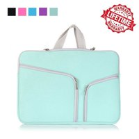 IClover 13 Inch Waterproof Thickest Protective Slim Laptop Case for Macbook Apple Samsung Chromebook HP Acer Lenovo Portable Laptop Sleeve Liner Package Notebook Case Bag Soft Green Bag Case