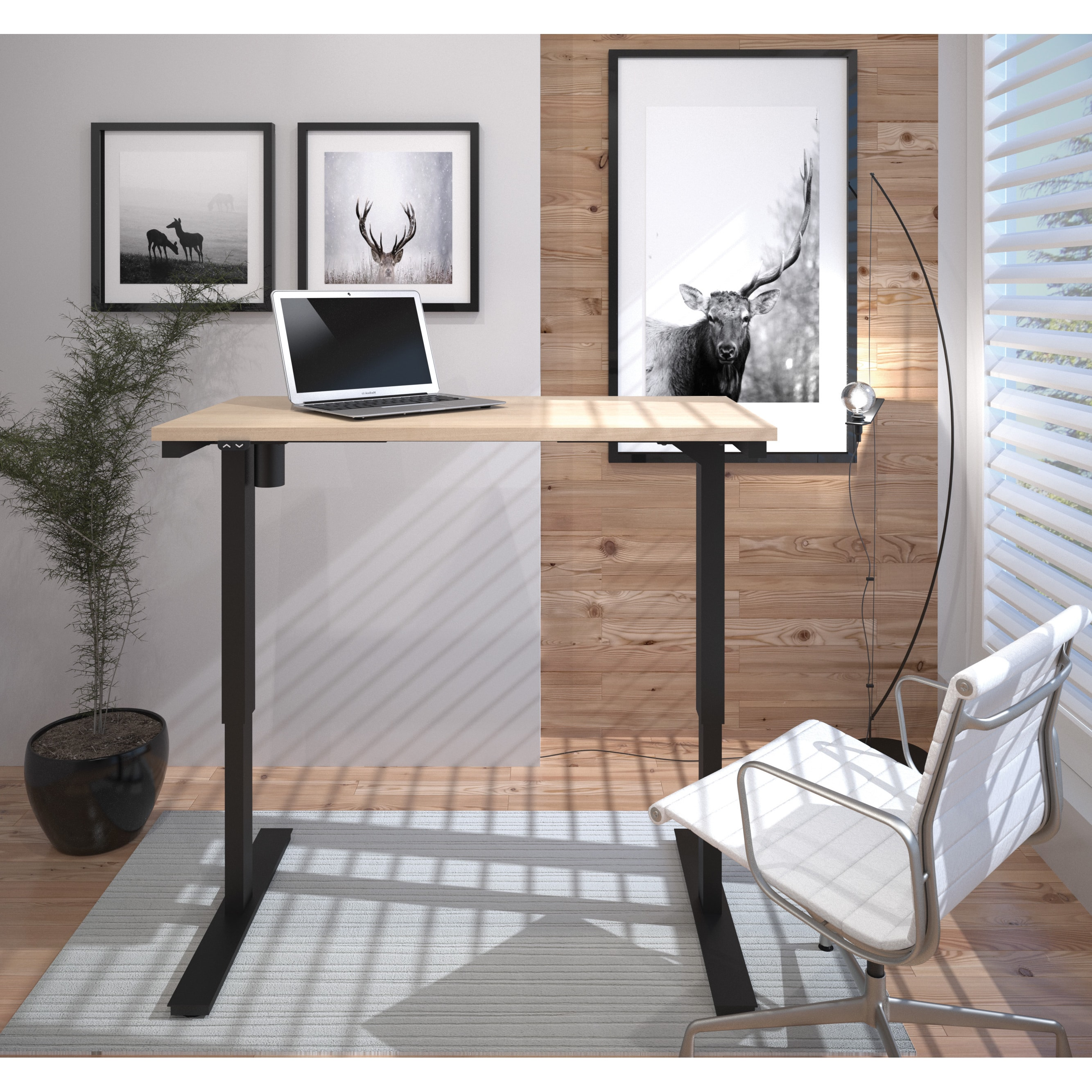 """Bestar 24"""" x 48"""" Electric Height-adjustable Table by Bestar"""