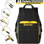 Best Tool Carriers - Costway 48-Pocket Heavy-Duty Tool Backpack Padded Back Support Review