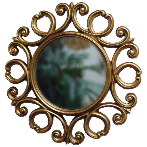 Imagination Mirrors D'Ror Round Traditional Framed Mirror