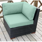Bellini Home and Gardens UNW77173B2014 Christopher Deep Seating Corner Sectional Set, Medium Turquoise