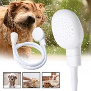 Dog Shower Head Spray Drains Strainer Pet Bath Hose Sink Washing Hair Pet Hair Wash
