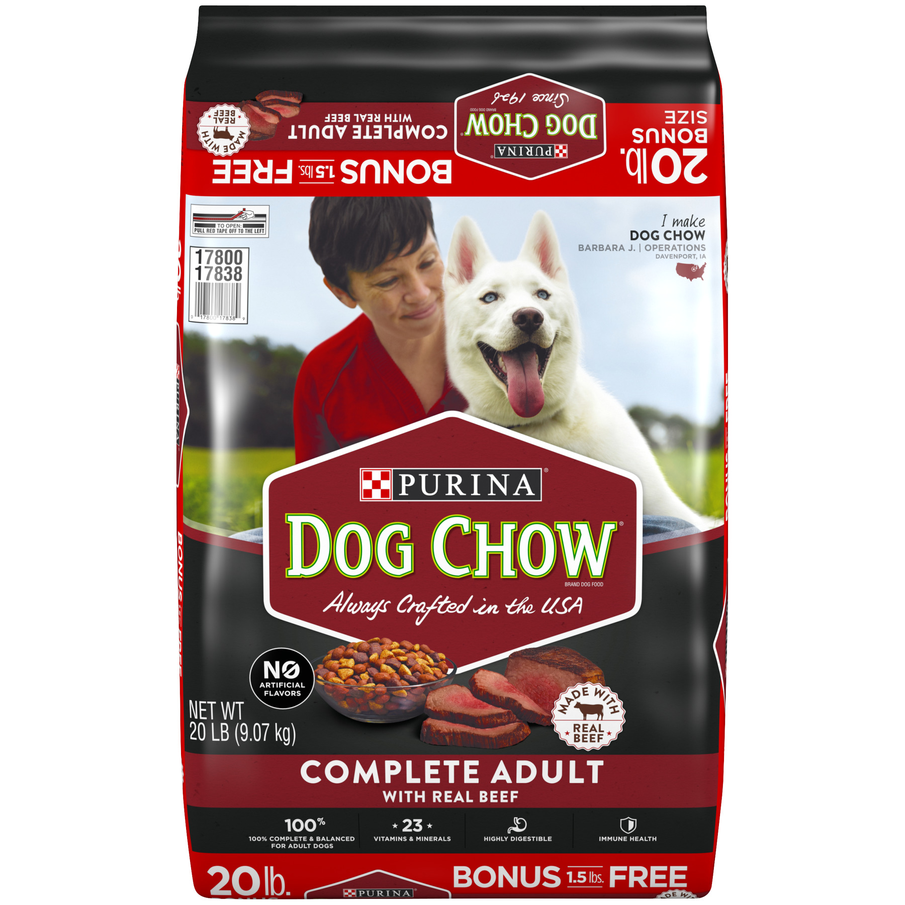 Dog Chow Complete Adult with Real Beef, 20.0 LB