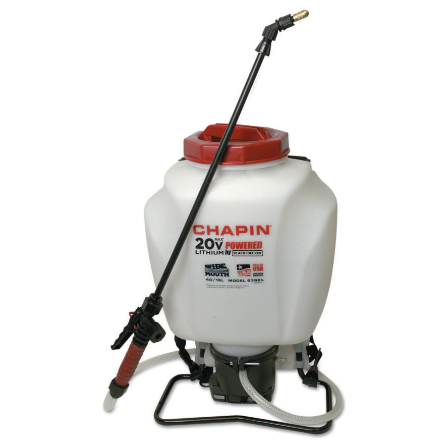 Chapin Sprayer 63985 4-Gallon Wide Mouth 20V Battery Backpack Sprayer Powered by Black & Decker