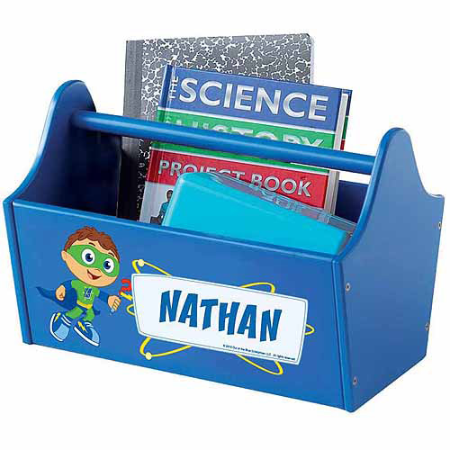 Personalized Super Why! Ready Set Zap! Toy Caddy