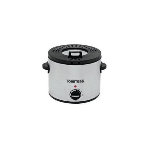 Toastess TDF639 Compact Round Deep Fryer,