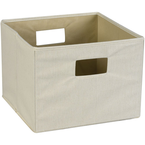 Household Essentials Dual-Handle Canvas Storage Bin